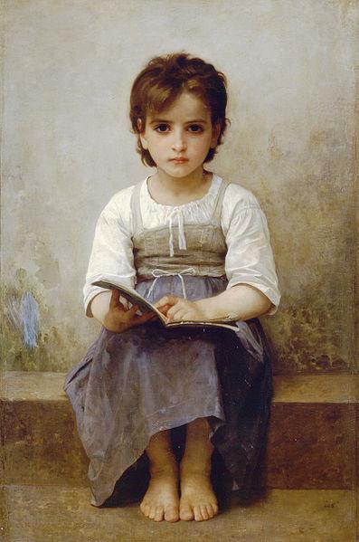 William-Adolphe Bouguereau's La leçon difficule (The Difficult Lesson)