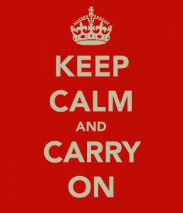 'Keep Calm and Carry On' poster