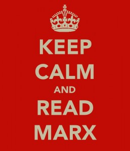 'Keep Calm and Read Marx' poster