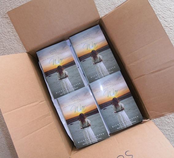 A box full of 'The FitzOsbornes at War'