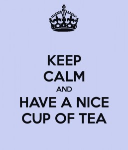 'Keep calm and have a nice cup of tea' poster