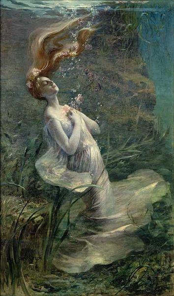 'Ophelia' (1895) by Paul Albert Steck