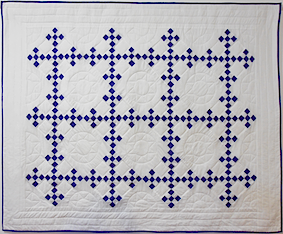 Double nine patch quilt