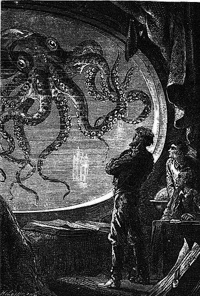 Captain Nemo and the Giant Squid