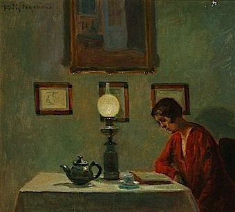 'Reading Woman' by Poul Friis Nybo (1929)
