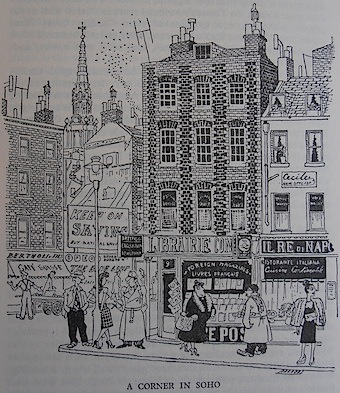 'A Corner in Soho' by Osbert Lancaster