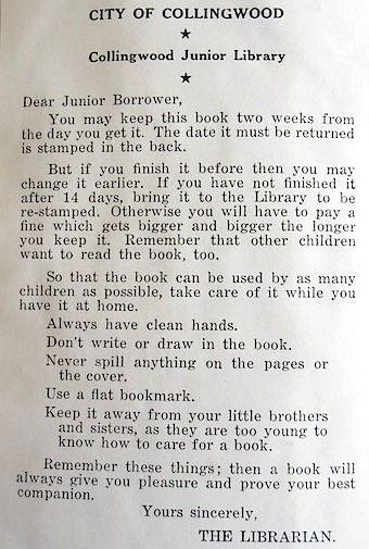 'Junior Borrower' letter