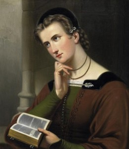 Braet von Uberfeldt 'Woman with bible' 1866