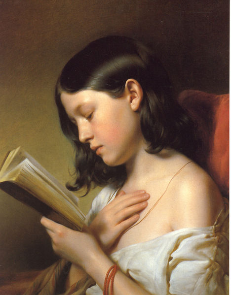 'Lesendes Madchen' by Franz Eybl