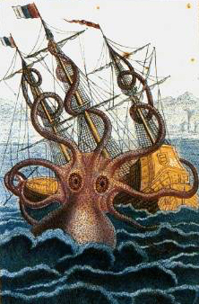 'Colossal Octopus' by Pierre Denys de Montford, 1810