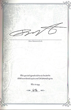 'The Furthest Station' signed by Ben Aaronovitch
