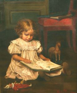 'Girl Reading' by Emil Brack