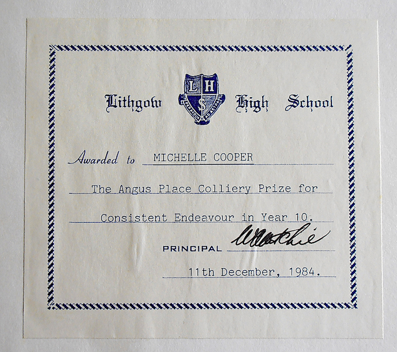 School prize bookplate, 1984